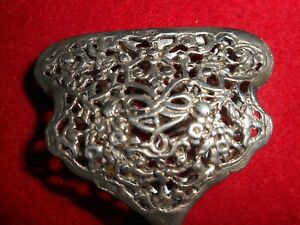 A RARE ORNATE RETICULATED  800 SILVER PASTRY/BREAD TONG LATE 1800'S