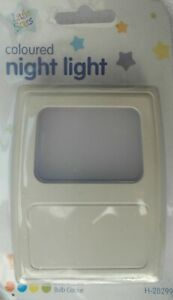 Coloured Night Light Plug-in various bulb colours