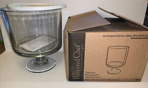 Pampered Chef Trifle Bowl with Pedestal Unused Open Box Discontinued