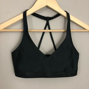 Under Armour Black Strappy Spell Out Sports Bra XS