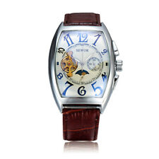 Men's Luxury Self-wind Mechanical Stainless Steel Leather Wrist Watch Stylish