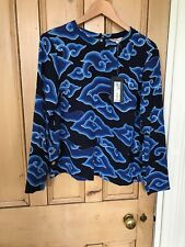 M&S Limited Edition Lovely Blue Top Blouse Size 14.