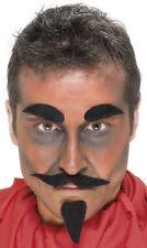 DIAVOLO barba e sopracciglia set di NUOVO - CARNEVALE BARBA rivestimento
