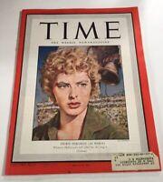 TIME Magazine MOVIE STAR MOTION PICTURE AUGUST 2 1943 INGRID BERGMAN