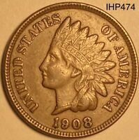 1908 Indian Head Penny Cent