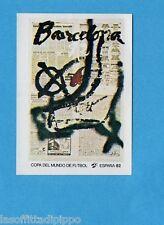 SPAGNA 82 ESPANA- PANINI -Figurina n.6- BARCELLONA - POSTER -Recuperata