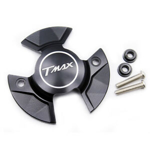 Black Engine Stator Cover Protective For Yamaha T-MAX 530 TMAX530 SX 2017-2019