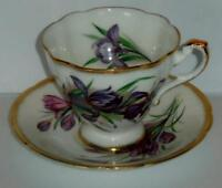 Paragon Bone China Canadian Province Flowers Series IRIS Cup and Saucer Set