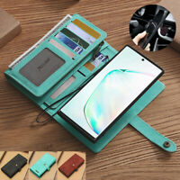 For Samsung Galaxy Note 10+ 5G S10+ S9 Detachable Leather Flip Wallet Case Cover