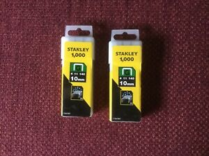 Stanley 1 TRA706T Type G Staples, Silver 10 mm Set of 1000 Piece FAST&FREE