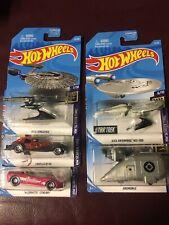 Hot Wheels Screen Time Lot Of 5 Barbie Corvette StarTrek Grumobile Movie Cars