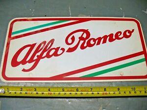 ORIGINAL  ALFA  ROMEO  DEALER  LICENSE PLATE INSERT  GENUINE  1969 VINTAGE