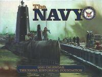 Navy 2021 Calendar, Paperback by Navy Historical Foundation (COR), Like New U...