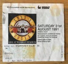 GUNS 'N' ROSES, 1991 WEMBLEY STADIUM TICKET AUGUST TICKET STUB