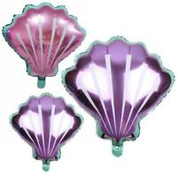 Baby Shower Wedding Shell Foil Balloons Mermaid Birthday Wedding Party Decor