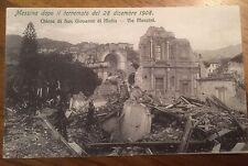 Cartolina Sicilia Messina dopo Il terremoto del 1908 via Mazzini 9/12/15
