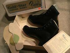 New listing VTG. RIEDELL GOLDSTAR 375 Skating Shoes NOS  Roller / Ice - SIZE 4 MENS / NEW
