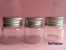 10pcs 20ml Empty Sample Vials Clear Glass Bottles with Aluminium cap