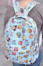 "disney CHOCOOLATE tsum blue  12"" backpack shoulder bag laptop bags AZ27 NEW"
