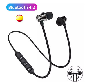Auriculares Bluetooth 4.2 Negros Inalámbricos Diadema Running Deporte Ligeros