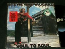 STEVIE RAY VAUGHAN & DOUBLE TROUBLE Soul to Soul LP IN SHRINK + HYPE STICKER