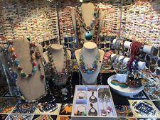 Jewelry Lot Necklaces Bracelets Earrings Huge Vintage To New Multicolor Boho