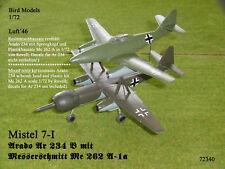 Mistel 7-I:   Ar 234 B und Me 262 A-1a  1/72 Bird Models Bausatz / mixed kit