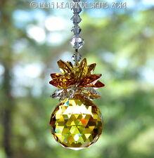 m/w Swarovski Crystal 30mm Sunny Topaz Pineapple Suncatcher Lilli Heart Designs