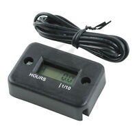 Motorcycle ATV Snowmobile LCD Marine Digital Hour Meter Gauge for Boat Yama Ski