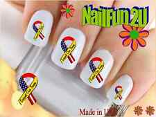 "RTG Set#574 MILITARY ""Support Our Troops"" WaterSlide Decals Nail Art Transfers"