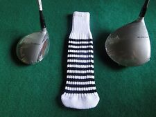 New knitted zebra style Fairway & Driver club head cover White / Black