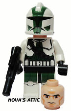 STAR WARS LEGO CLONE COMMANDER GREE GENUINE MINIFIGURE BRAND NEW