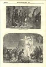 1854 Christmas Eve In Brittany First Christmas Morning Angel Points To Bethlehem