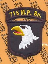 716th MP Bn Police 101st Airborne Div. AASLT patch