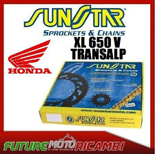 KIT CATENA CORONA PIGNONE PLUS SUNSTAR HONDA XL 650 V TRANSALP 2005 2006 2007