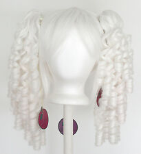 18'' Ringlet Pig Tails + Base Snow White Cosplay Lolita Wig NEW