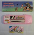 ELECTRON ECHO VTG 80's MINI PIANO  SONG BOOK IN PINK PENCIL CASE TAIWAN MIP