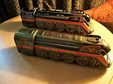 Lot of 2 Modern Toys Tin Litho Battery Operated Locomotives