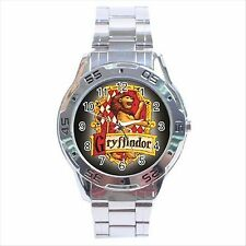 NEW* HOT HARRY POTTER GRYFFINDOR HOGWARTS SCHOOL Stainless Steel Analogue Watch