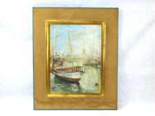 Zeebrugge Großes Bild Ölbild 1966 signiert  NK-032