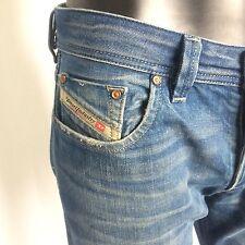 Diesel Mens Larkee Blue Denim Designer Jeans Size 31 x 28 Straight Leg Italy