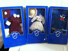 "Lot of 3 Franklin Mint ANASTASIA 14"" Vinyl Doll Ensembles NRFB WORN BOXES/NO COA"