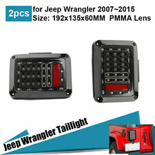 For 07-15 Jeep Wrangler LED Smoke Reverse Brake Turn Signal Light Tail Light US