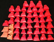 Large Lot of 48 Inline Skate Boot Heel Rear Brake Pads Replacement, Neon Orange