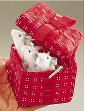 Folkmanis Mice in Red Box Puppets 2218 RETIRED RARE NWT