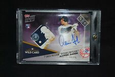 2017 TOPPS NOW AARON JUDGE /25 YANKEES AUTO GAME USED BASE RELIC WILD CARD #696C