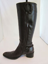 Attilio Giusti Leombruni Brown Knee High Leather Boots/Booties Size 7.5,Eu 37.5