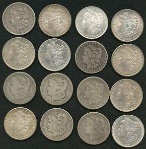 Mixed Dates Morgan Silver Dollars Lot of 16