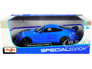 2020 FORD MUSTANG SHELBY GT500 LIGHT BLUE 1/18 DIECAST MODEL CAR BY MAISTO 31452