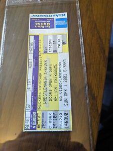 Wrestlemania X-Seven Full Ticket great shape Rock vs. Austin, HHH vs. Undertaker
